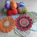 DIY Kit crochet potholder o <b>manique</b> au crochet/ DIY Kit agarrador de ganchillo