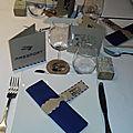 Décoration de table sur le thème du <b>voyage</b>