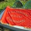 ANCIEN DRAPEAU SFIO SECTION SOCIALISTE DE CHAMPAGNEY//