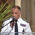 <b>Agde</b>, la cérémonie de départ du commissaire François DUCRETTET au parc du Château Laurens ...