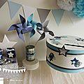 Urne ou <b>boîte</b> à souvenirs baptême thème étoile