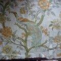 1721 - <b>Tissu</b> <b>ancien</b> au motif de paon sur arbre