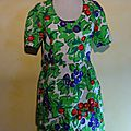 R1356 : Robe fruits 90's T.38
