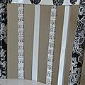 Marouflage d'une chaise de bistrot