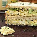 Sandwich aux <b>oeufs</b> et laitue (Egg salad sandwich)