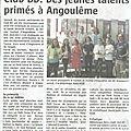 Récompense coucours Angoulême par la club de <b>BD</b> de Landivisiau