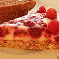 Framboisier léger façon cheesecake