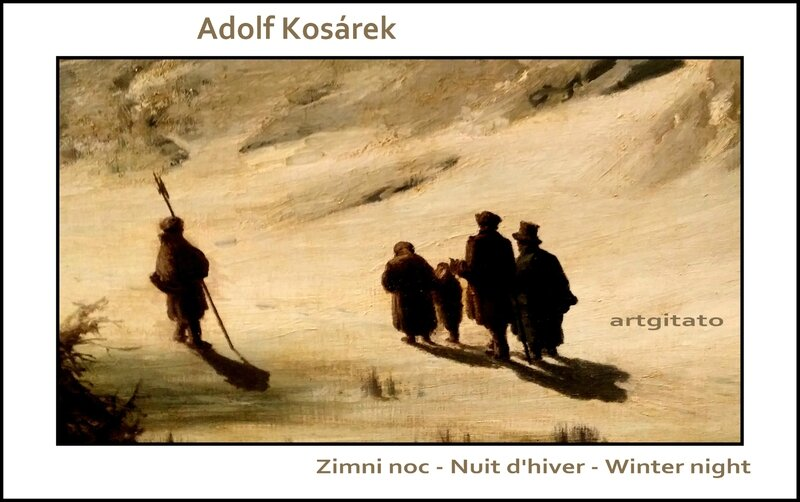 Adolf Kosárek Zimni noc Nuit d'hiver Winter night 1857 Artgitato 5