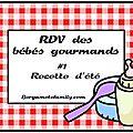 Le RDV des bébés gourmands de Bergamote Family : <b>Clafouti</b> tomate cerise et chèvre