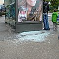 Panneaux publicitaires Decaux vandaliss.....