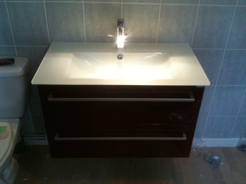 Plan vasce - Verdubbelen vasque en verre ...