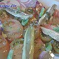 Des <b>anchois</b> marinés en salade