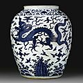 A collection of Chinese <b>Blue</b> and white porcelains, Ming dynasty sold @ Sotheby's New York 16 Sep 2009