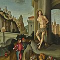 The <b>Master</b> of the Figdor St Eustache (Active in Romagna at the end of the 15th century), The Martyrdom of Saint Sebastian