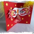 Animation de carnaval : <b>cartes</b> masques pop-up