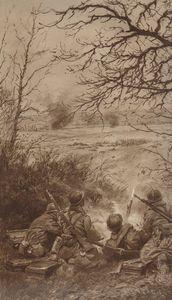 troupes d'assaut allemandes fauchées par nos mitrailleuses L'Illustration