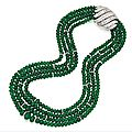 Platinum, Emerald Bead and Diamond Necklace, <b>David</b> <b>Webb</b>