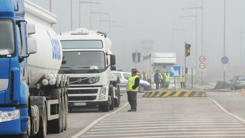 Les routiers NORMANDS se mobilisent contre la dérégulation du code de la route… sociale