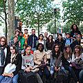 Les Quatrièmes 1 du Lycée français de Copenhague à Paris, Mai 2011