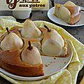 Gâteau rustique aux <b>poires</b> {Miel & sarrasin}