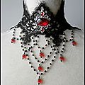 Collier Dentelle « Voluptati » Mariage <b>Victorien</b> Gothique Vampire Gothic Victorian Lace Wedding Lace Choker Necklace