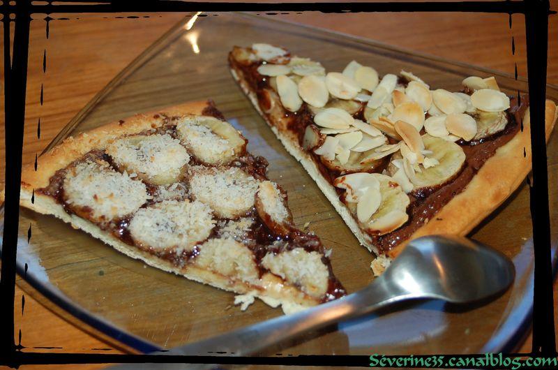 recettes plats  Pizza Nutella   Banane