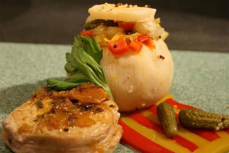 recettes entrees  Pain tressé farci à la viande hachée, poivron et fromage
