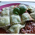 Ravioles épinard & <b>ricotta</b>