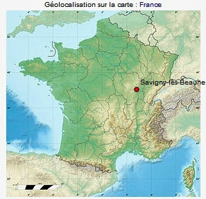 Carte France - Situation Savigny-lès-BeauneGP