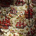 2167 <b>Ancien</b> <b>tissu</b> vintage Romanex