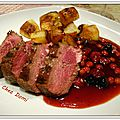 Magret de <b>canard</b> à la gelée de fruits rouges