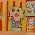 Dessin dirigé du clown Auguste