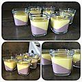 Crème dessert Vanille / Framboise ou Fraises / Pralinoise