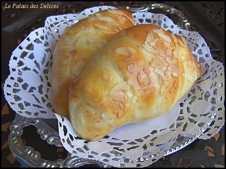 recettes dessert  Croissants briochés fourrés à la crème pâtissière et au Nutella
