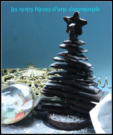 recettes  petits sapins de nol au chocolat