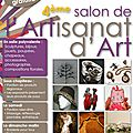 4ème salon de l'Artisanat d'Art - 5 et 6 Avril 2014