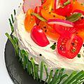 Layer Cake salé, trés Printannier