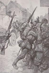 Charge d'une auto-mitrailleuse de la cavalerie française L'Illustration