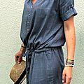 Orage d'été (ou une blouse devenue robe)