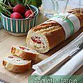 Baguette farcie au roquefort