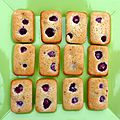 <b>Financiers</b> framboises