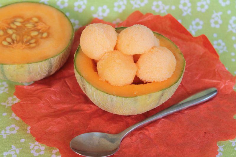 Sorbet au melon blogs de cuisine - Glace au melon avec sorbetiere ...