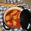 Poulet <b>sauce</b> Xeres et poivrons