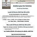 Ateliers pour les FEMMES - 3 séances proposées sur l'ile de la Reunion