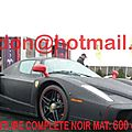 FERRARI ENZO, <b>piece</b> <b>auto</b> carrosserie, autos <b>pieces</b> batterie voiture Total covering noir mat, peinture covering noir mat, coveri