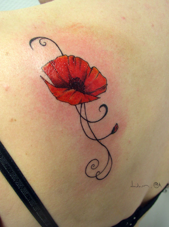 Tatouage Coquelicot Galerie Creation Hawaii Dermatology Picture