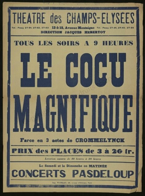 Affiche Le Cocu magnifique