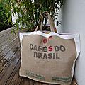 <b>Sac</b> de plage XXXL - Café do Brasil - toile de jute - <b>sac</b> familial