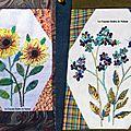 Violettes et Tournesols