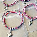 Bracelet Liberty cadeau de la mariée à ses témoins